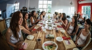 2017 Finalists of Miss Asia Canada make sushi